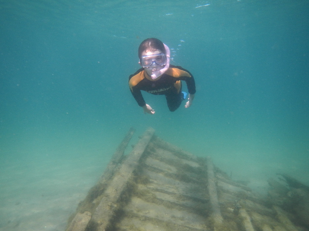 Snorkling the wreck