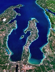 Grand Traverse Bay Aerial